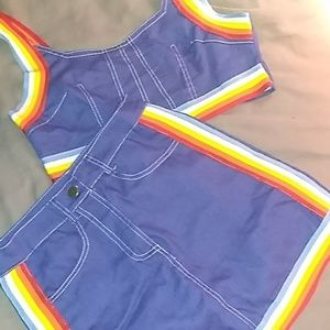 Cute Summer Two Piece Skirt Crop Top